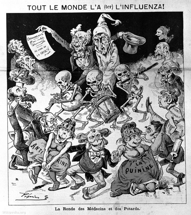 1890. január 12-én megjelent párizsi Le Grelot satirical magazin illusztrációja