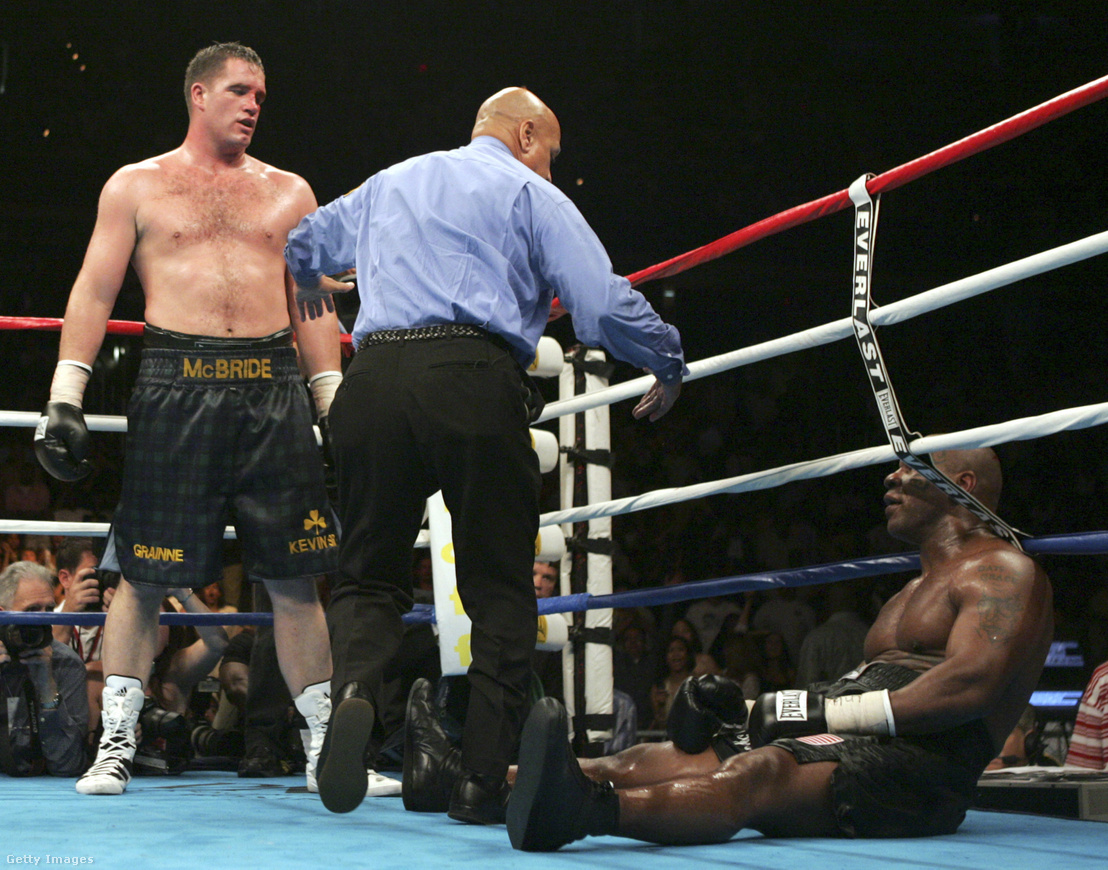 Tyson, miután McBride kiütötte 2005-ben.