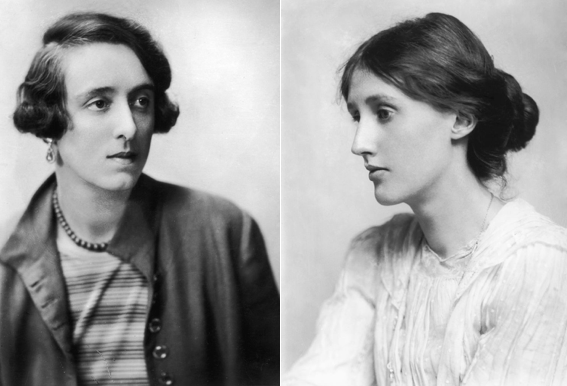 Vita Sackville-West 1925 körül és Virginia Woolf 1902-ben