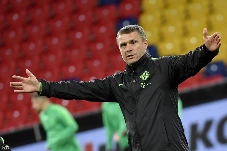 Szerhij Rebrovra, a Ferencváros edzőjére is kíváncsiak lehetnek az ukrán tévénézők