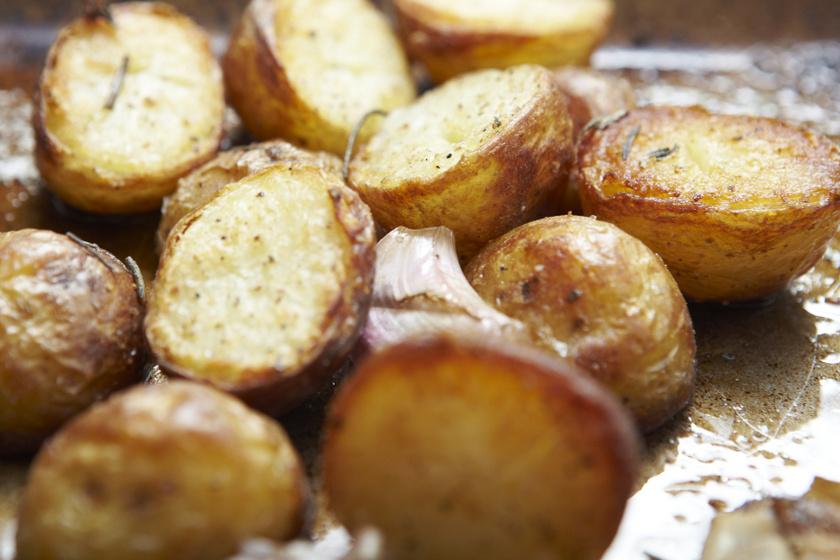 szaftos sült újkrumpli recept