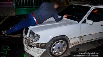 Elütötte, majd 55 méteren át motorháztetőjén vitte a vétlen sofőrt a balesetet okozó másik