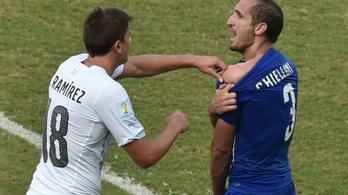 Chiellini nagyra tartja az őt megharapó Suárezt