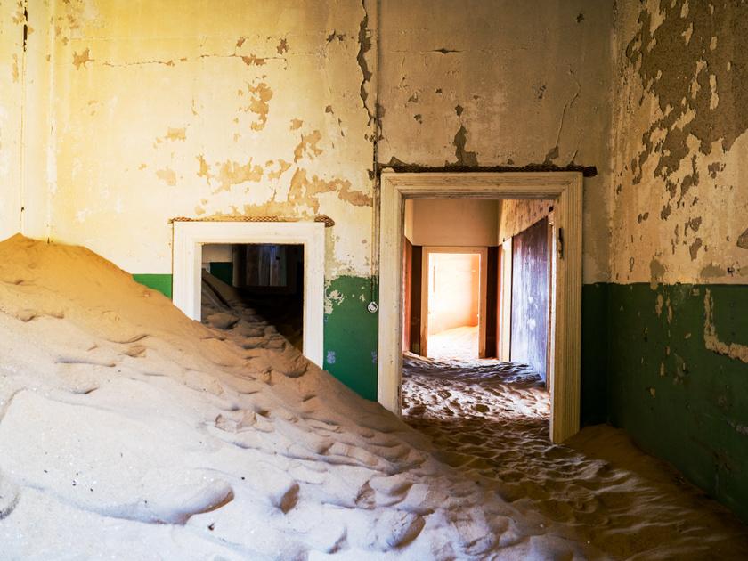 Kolmanskop városa.
