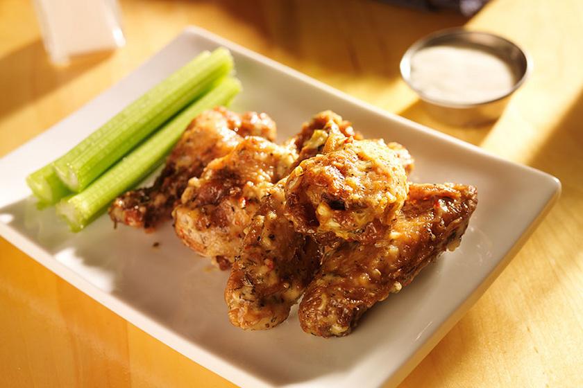 parmezános-csirkeszárny