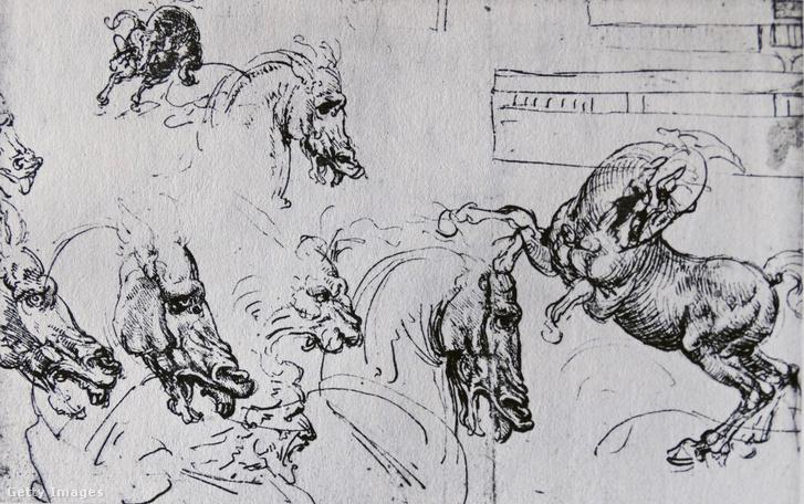 """Vázlatok Leonardo Da Vinci """"Anghiari csata"""" című művéből"""