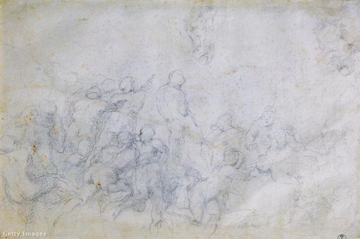 Michelangelo Cascinai csata c. festményének vázlata