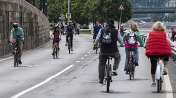 Hétvégén ismét a gyalogosoké és a kerékpárosoké a Pesti alsó rakpart