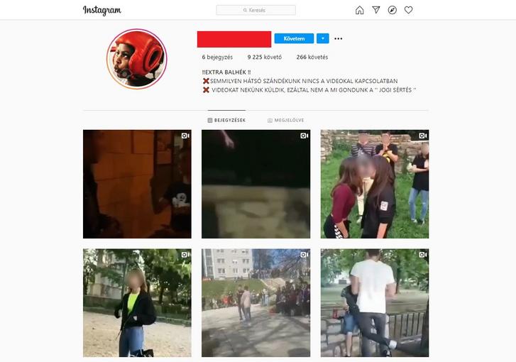 Az egyik videókat gyűjtő oldal képernyőképe