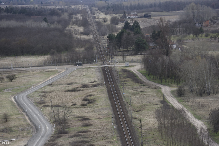 A Budapest-Belgrád vasútvonal a magyar-szerb határnál