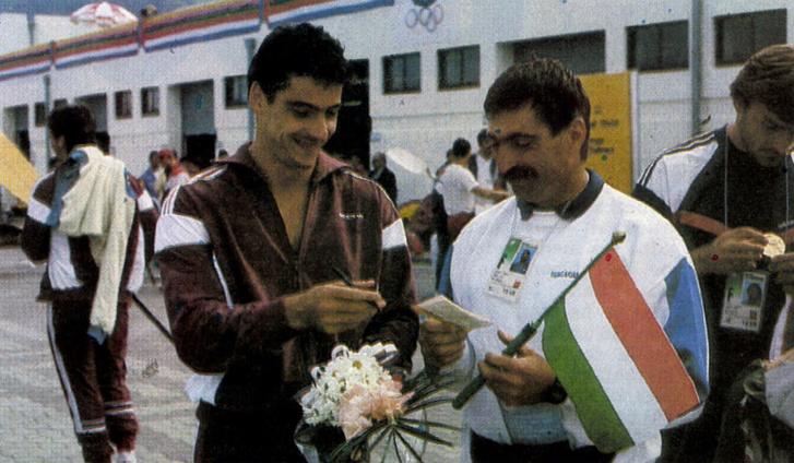 Gyulay Zsolt és Székely Antal vitorlázó a szöuli olimpián