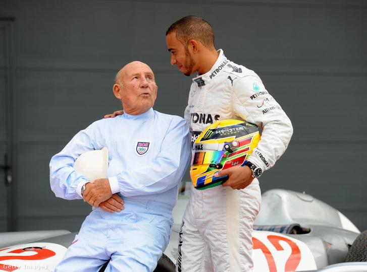 Stirling Moss (b) és Lewis Hamilton (j), az Autosport szerint a tökéletes pilótapáros