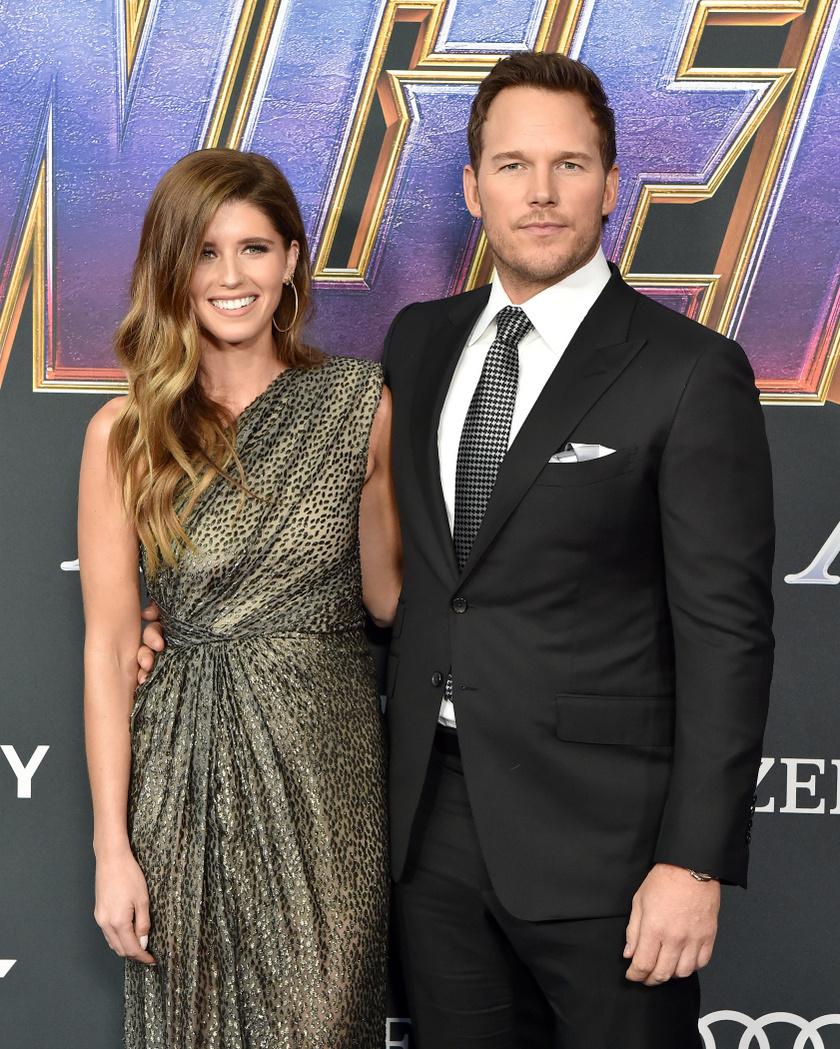 Katherine Schwarzenegger és férje, Chris Pratt 2019 áprilisában.
