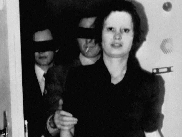 Ulrike Meinhof 1972-ben, a letartóztatása után