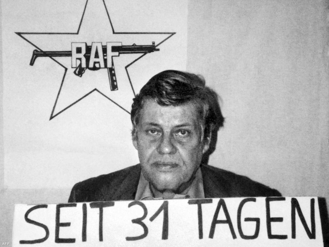 Hanns-Martin Schleyer, a német gyáriparosok szövetségének elnöke – a kép készítésének idején 31 napja volt a RAF foglya Fotó: Archive