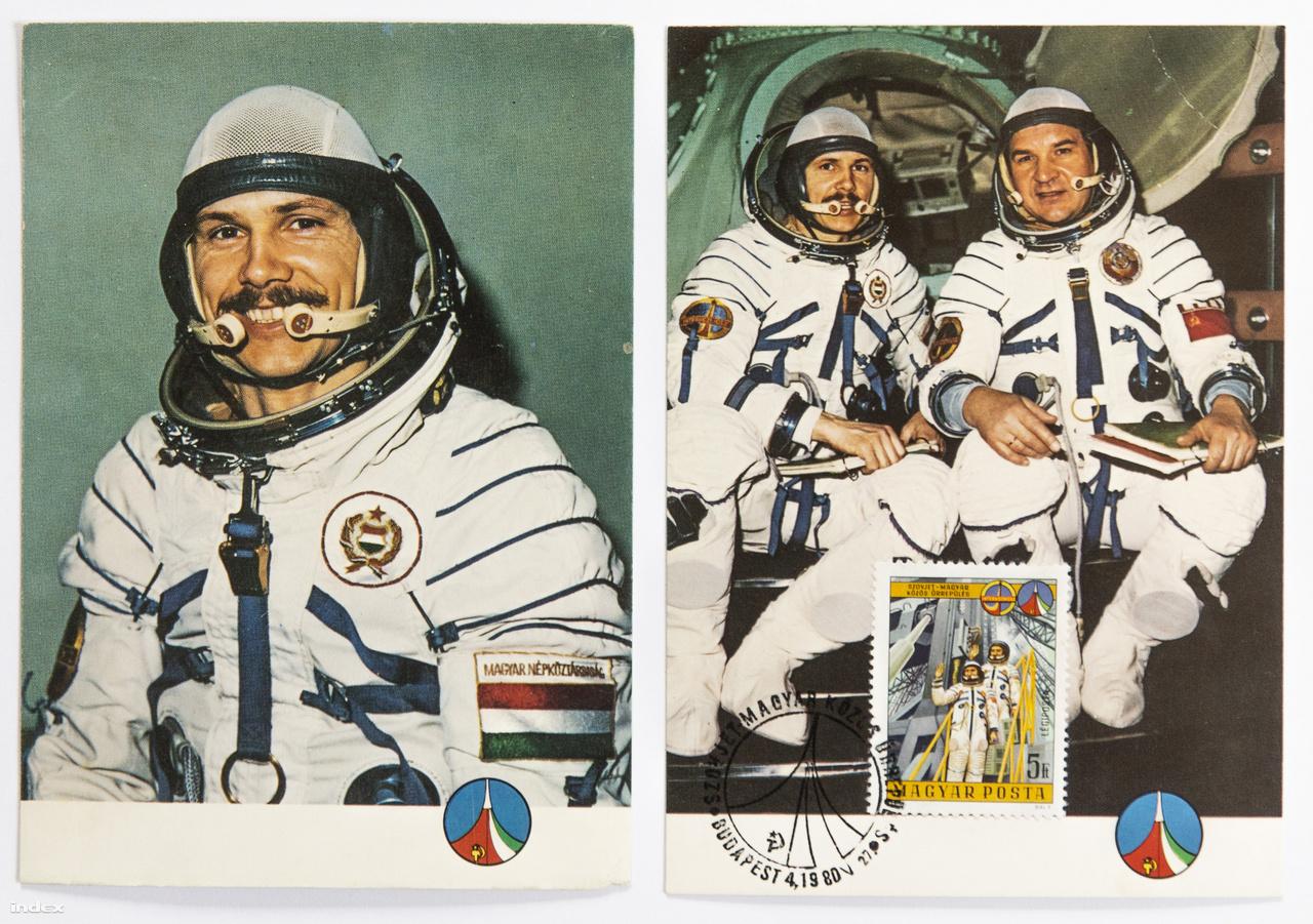 A Képzőművészeti Alap Kiadóvállalata színes képeslapsorozatot jelentetett meg a közös űrrepülés alkalmából.