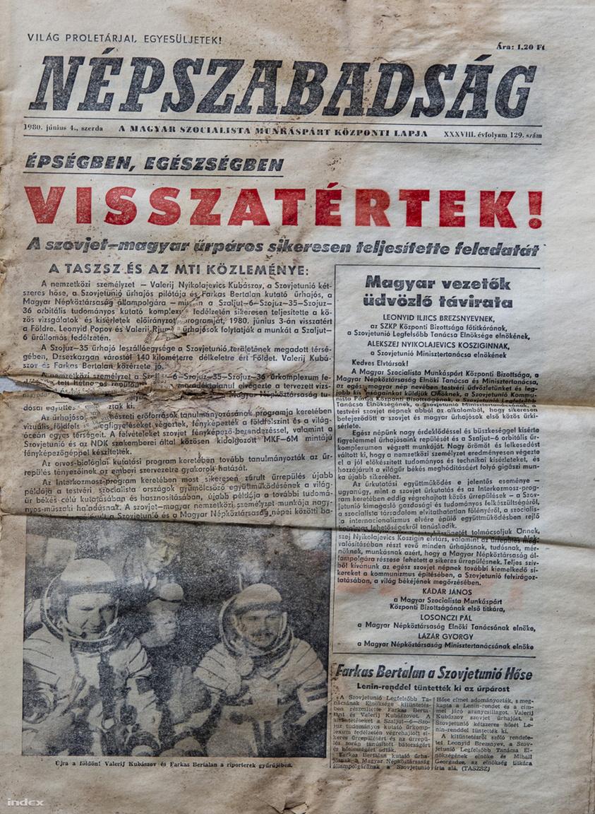 A küldetés 1980. június 3-án zárult a szerencsés visszatéréssel, és ami a Szovjetunió és egyben a Magyar Népköztársaság hősévé avatta Farkas Bertalant.