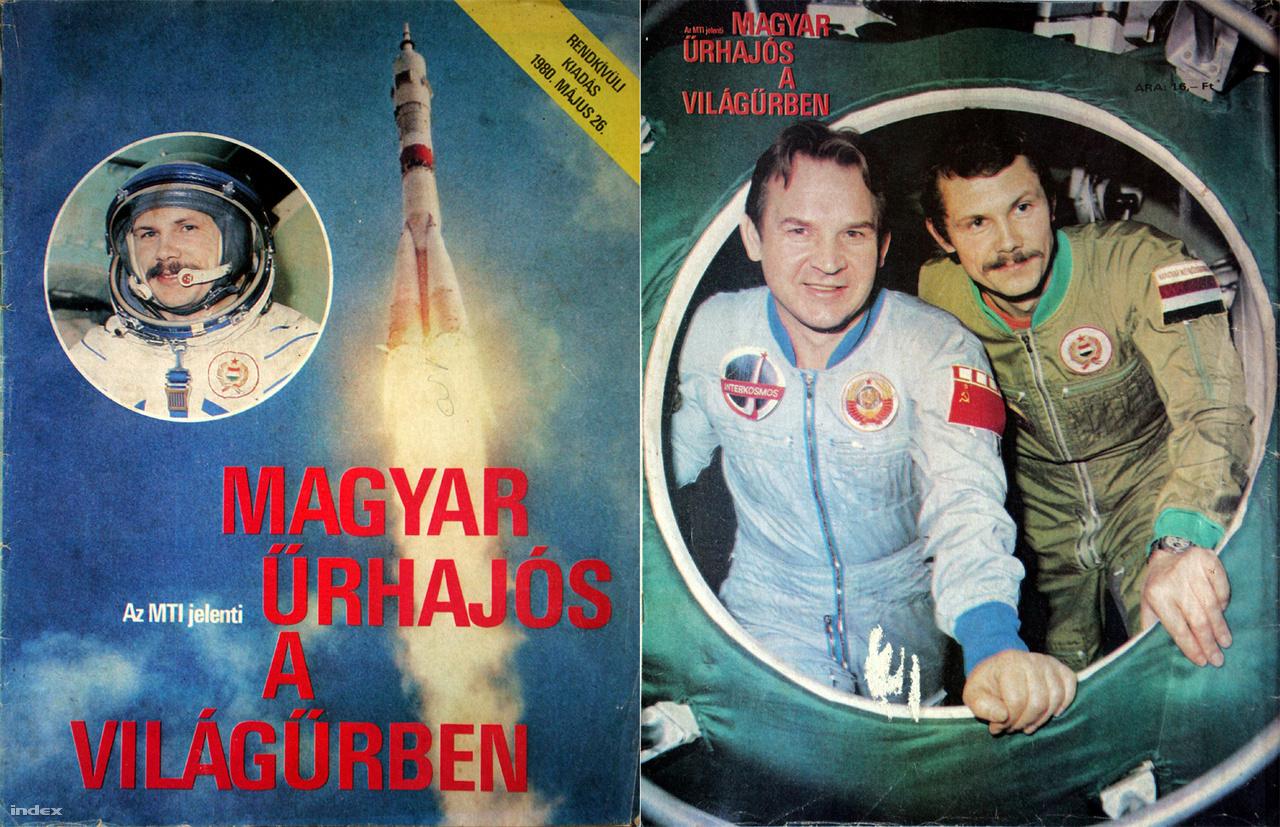 A Magyar Űrhajós A Világűrben című alkalmi MTI-kiadvány 240 ezer példányban jelent meg a sikeres start után, benne csupa-csupa fontos információ és sok kép az űrhajósokról, kiképzésükről, magáról az űrrepülésről.
