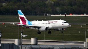 Lezárt reptérre indított járatot az Eurowings, a cél előtt fordult vissza a gép