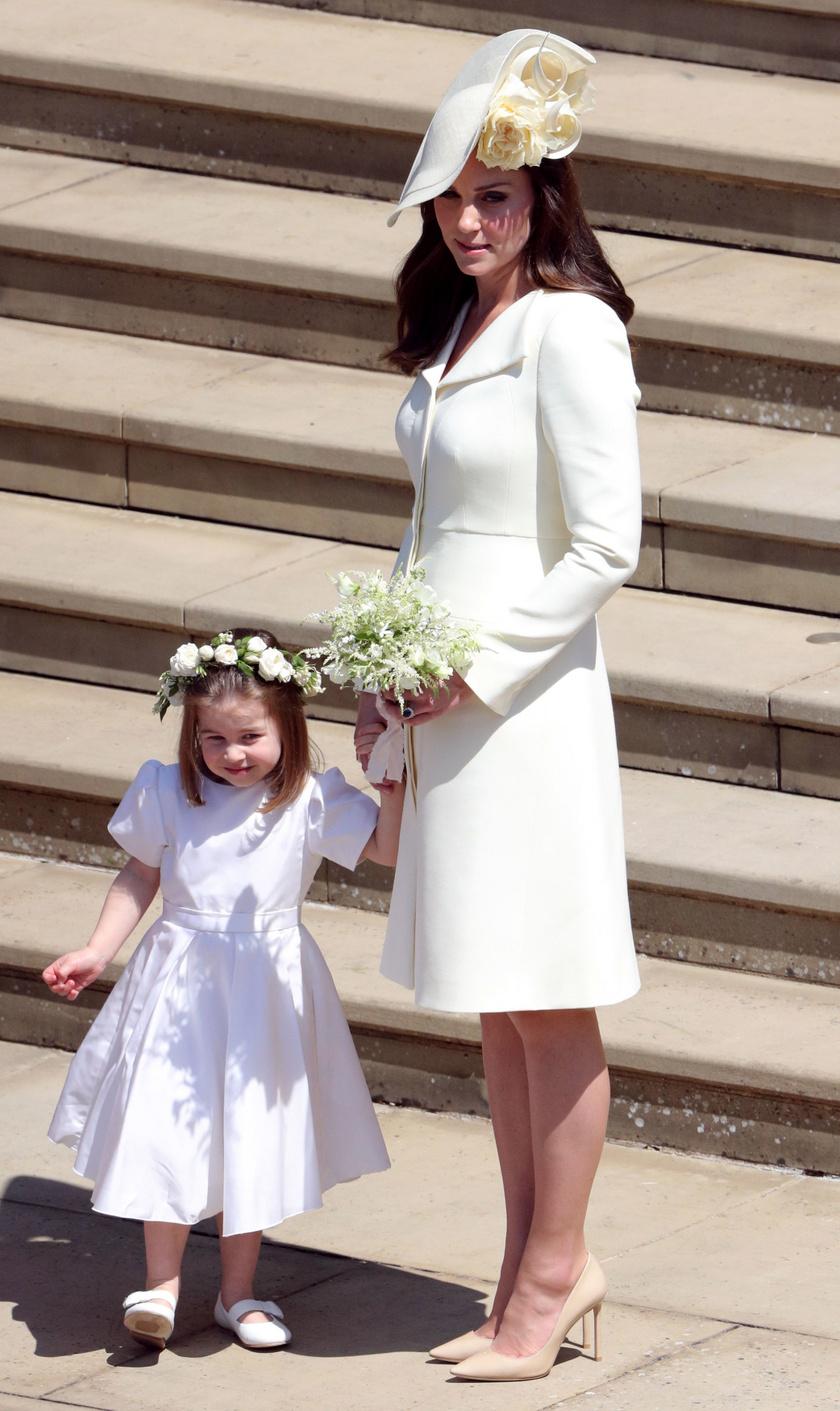 Katalin és Charlotte Meghan és Harry esküvőjén.