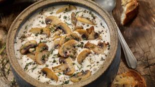 Fenséges krémes vegán gombaleves – glutén-, tej- és tojásmentes recept