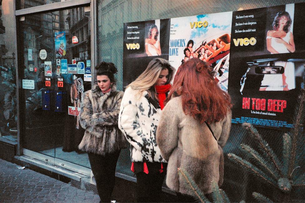 Váci utca, Budapest, 1992