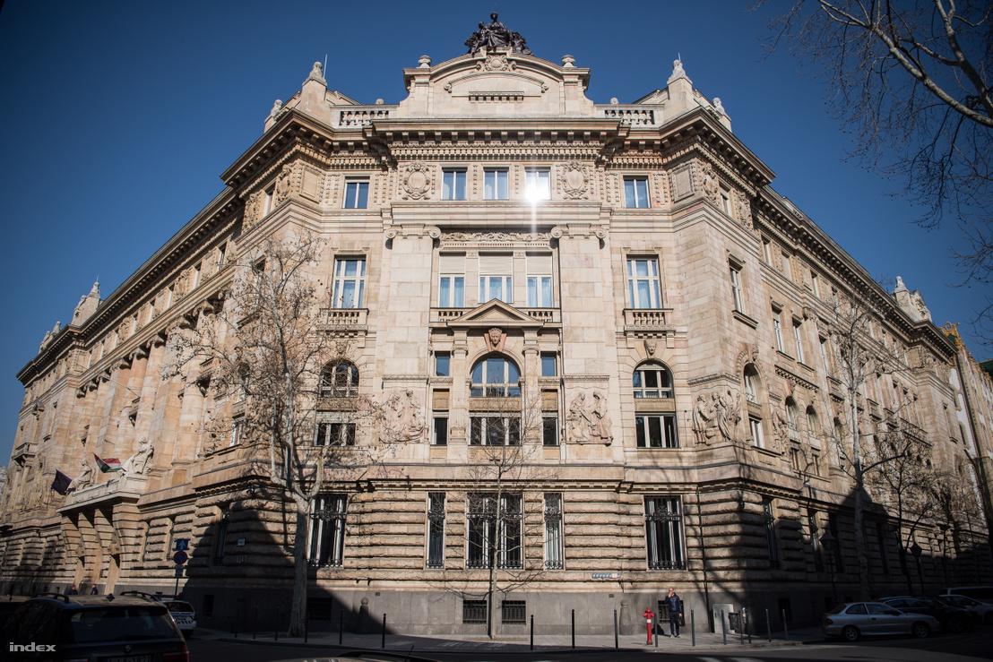 A Magyar Nemzeti Bank (MNB) épülete az V. kerületi Szabadság téren.