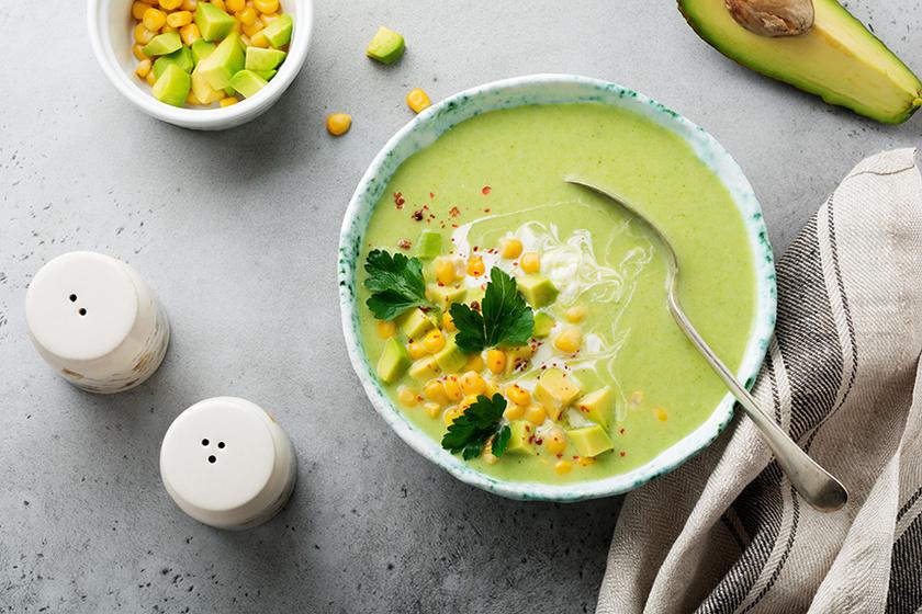 A legfinomabb hideg leves Mexikóból avokádóval és kukoricával