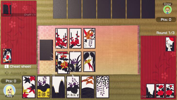Tradicionális Hanafuda kártyák.