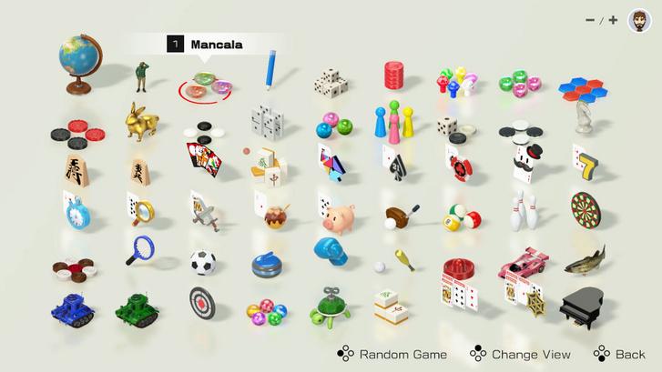 Kedvünkre válogathatunk a játékok között, de akár véletlenszerűen is elindíthatunk egyet.