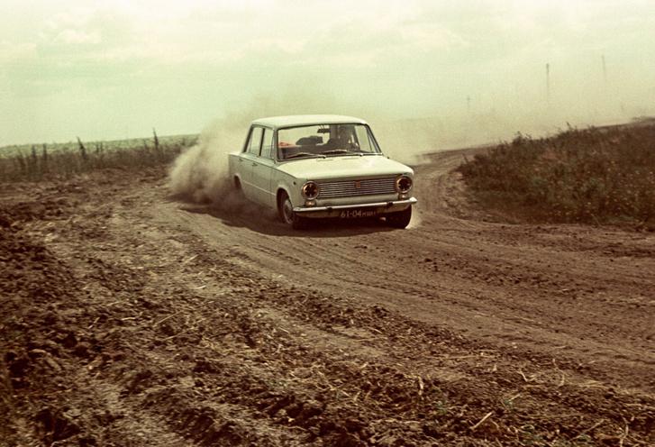 Fiat 124R a szovjet autópályás teszten