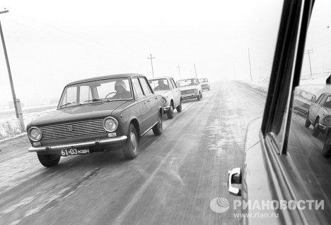 Fiat 124R-ek (a Lada előszériája), teszten