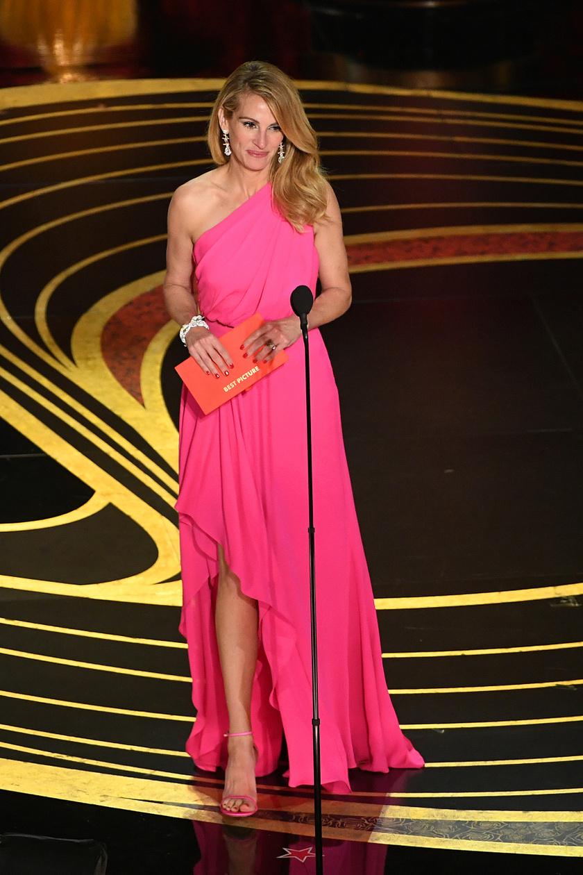 Julia Roberts a 2019-es Oscar-gálán egy pink színű Elie Saab-kreációban kápráztatott el mindenkit.