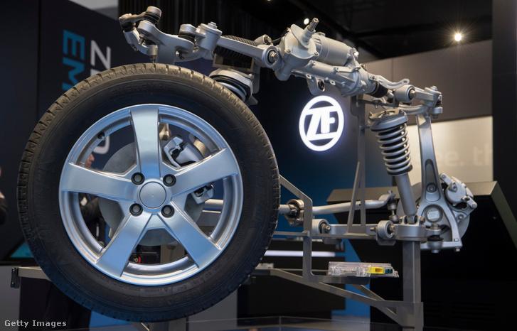 A ZF Friedrichshafen standja a 2018-as detroiti autóbemutatón.