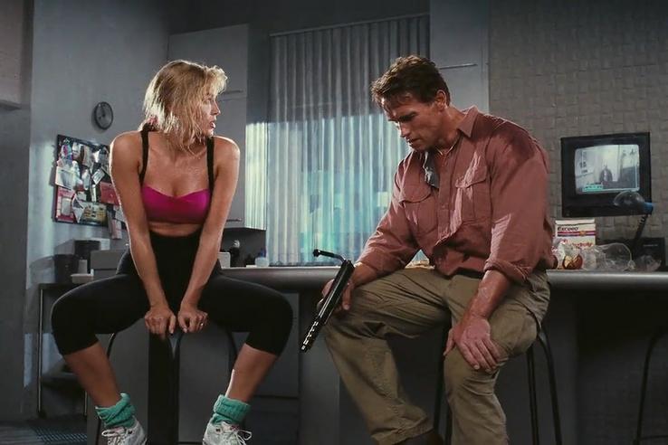 Sharon Stone és Arnold Schwarzenegger