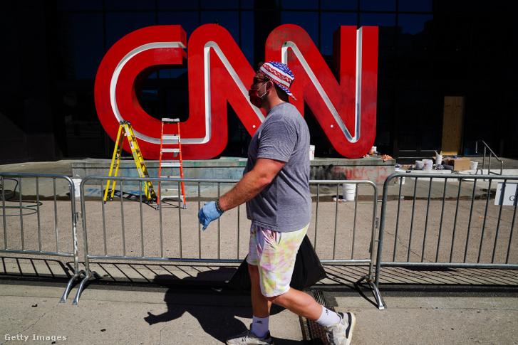 A CNN logója a támadás után.