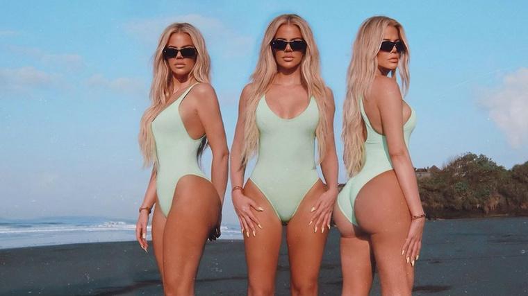 Mind-mind Khloé Kardashian, bár takarás nélkül sem feltétlenül nyilvánvaló.