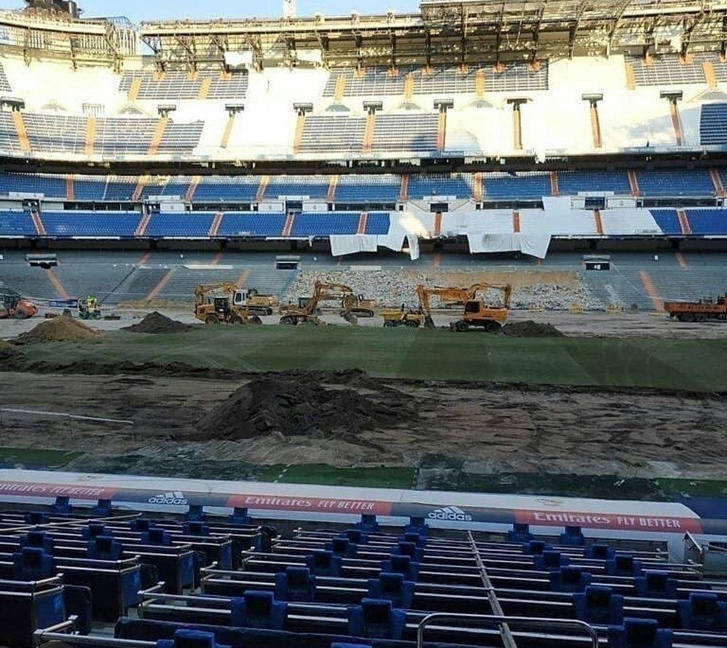 A Real Madrid stadionjának belseje május végén