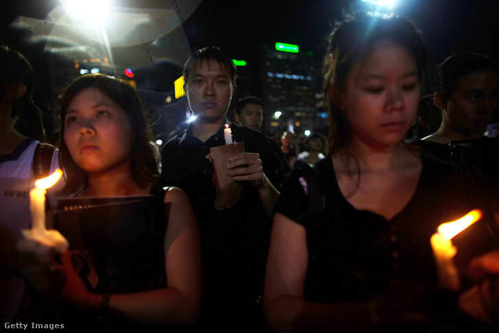 Egy 2013-as megemlékezés Hongkongban.