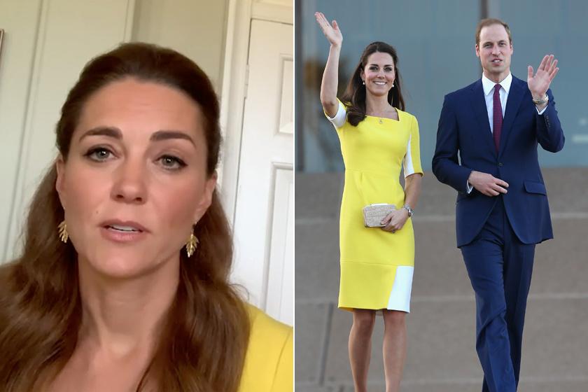 Katalin hercegné egyik kedvenc sárga ruháját viselte egy videókonferencián.