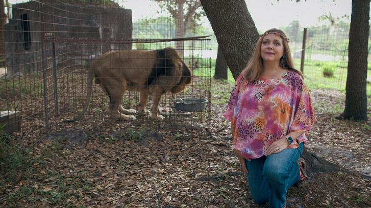 Carole Baskin, a Big Cat Rescue tulajdonosa a Tiger King című sorozatban.