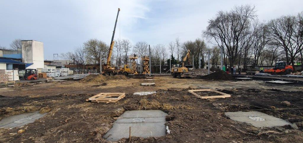 A Florin Zrt. új üzemének területe 2020. márciusában