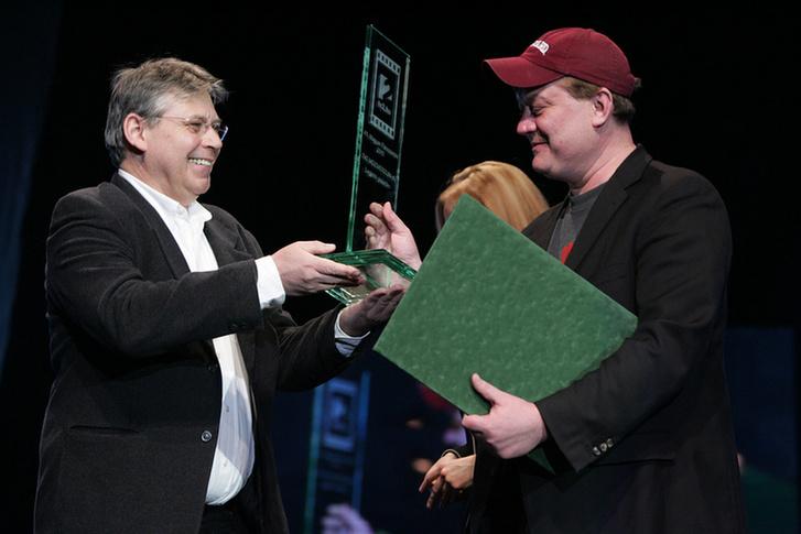 Vágvölgyi B. András (jobbra) egy 2010-es díjátadón