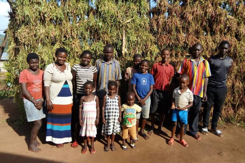 Irene és családja.