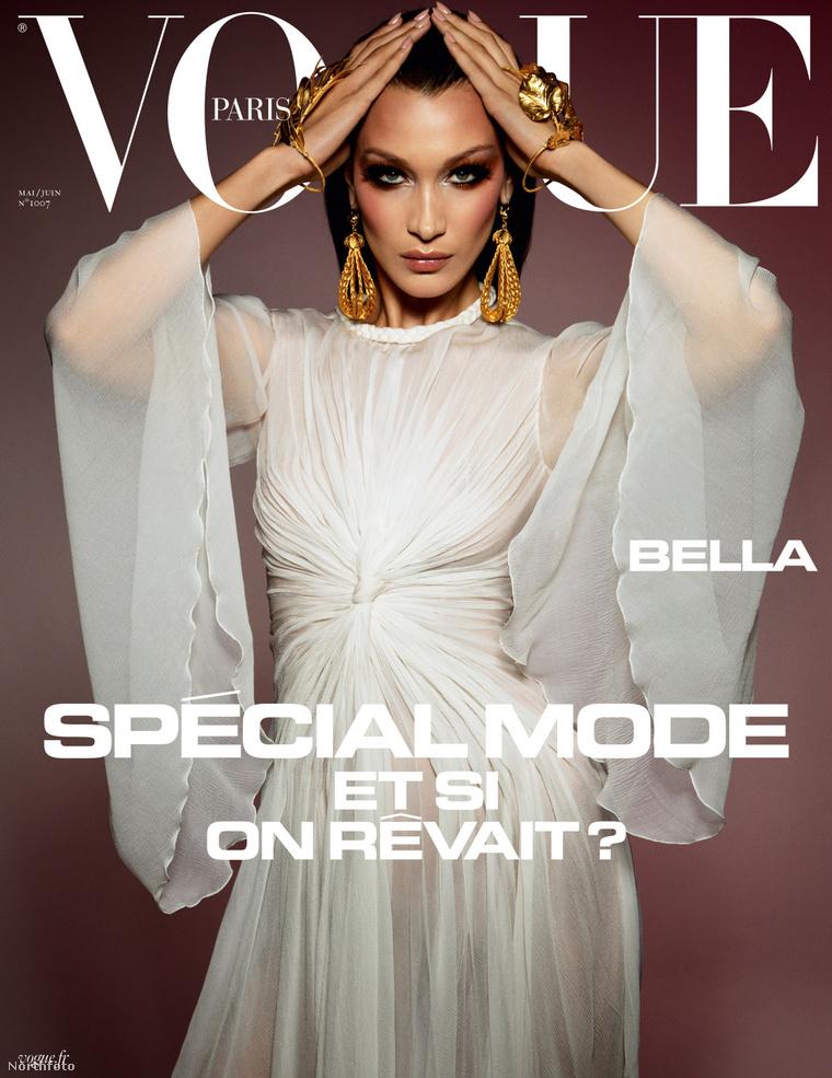 Bella Hadid a Vogue címlapján