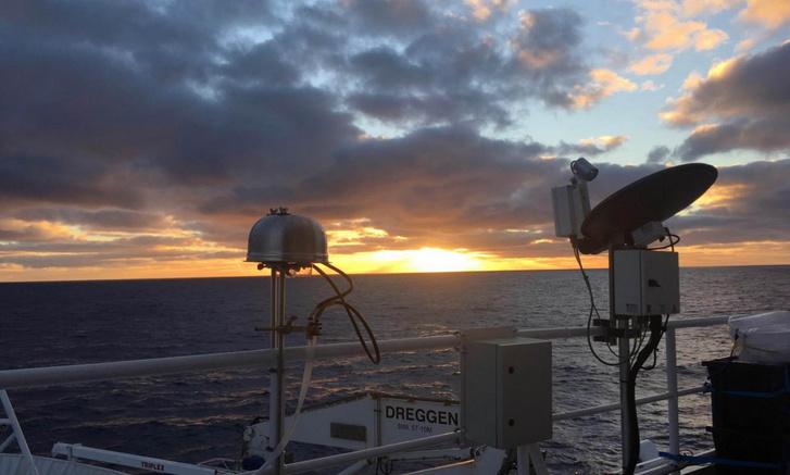 Az aeroszolsz-mintavevőkkel vizsgálják a Déli-óceán feletti levegőt
