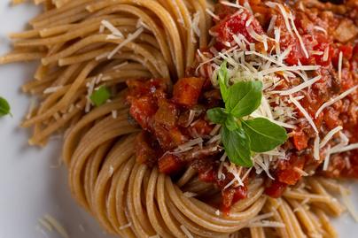 Isteni, zöldséges, vega bolognai spagetti: nem hiányzik belőle a hús