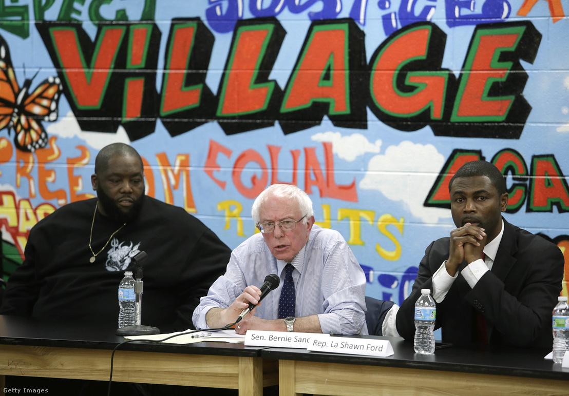 Killer Mike, Bernie Sanders és La Shawn Ford feketékkel szembeni rendőri erőszakról szóló nyilvános beszélgetése 2015 decemberében