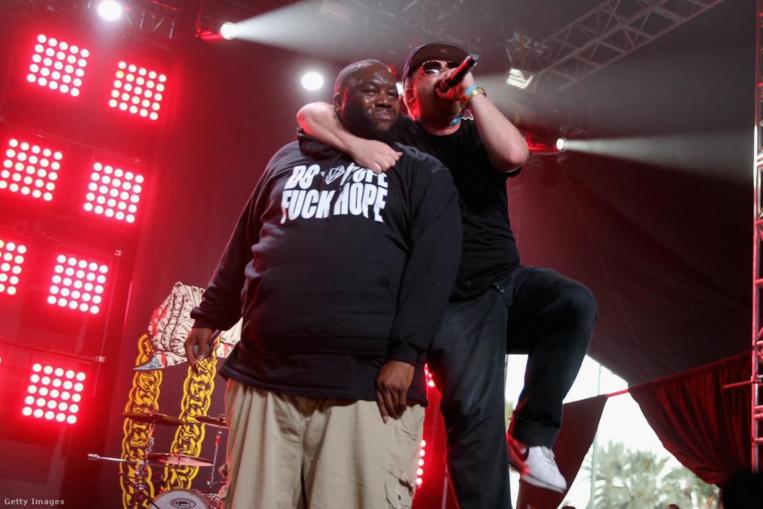 Killer Mike és El-P, azaz a Run the Jewels a 2015-ös Coachella fesztiválon