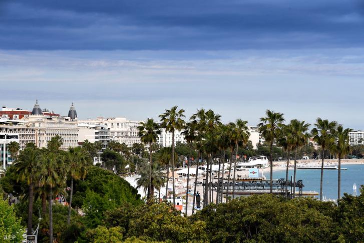 Cannes látképe a 2019-es fesztivál ideje alatt.